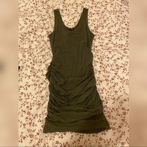 Army green body con dress